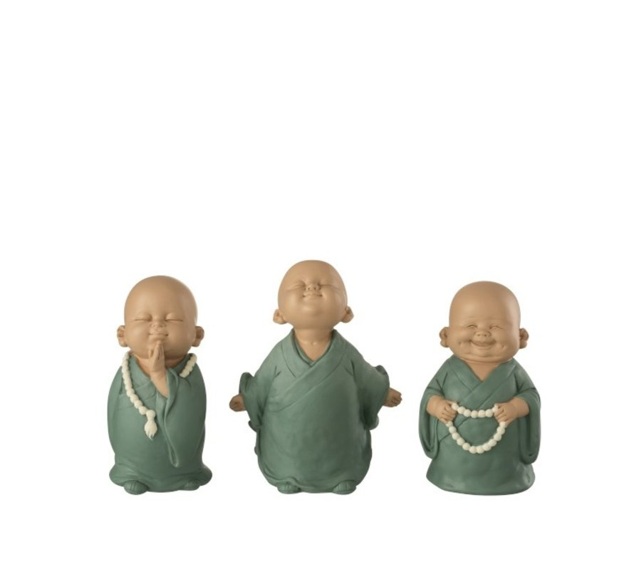 Decoratieve Grappige Monniken Pastel Groen - Small