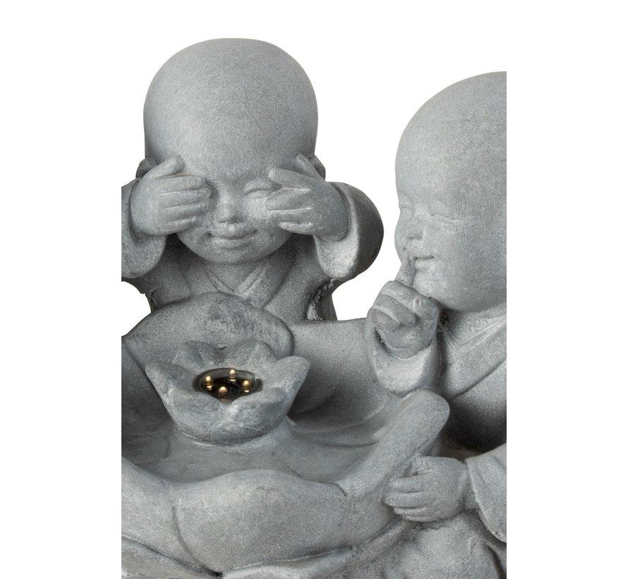 Decoratie Monniken Led Horen Zien Zwijgen - Grijs