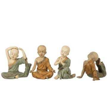 J-Line Decoration Monks Yoga Ocher Green - Large