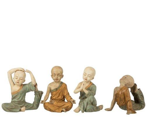 J -Line Decoration Monks Yoga Ocher Green - Large