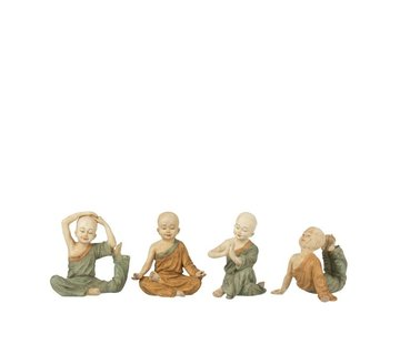 J -Line Decoration Monks Yoga Ocher Green - Small