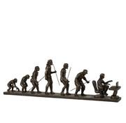 J -Line Decoratie Figuur Evolutie Van De Mens - Brons
