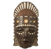 J-Line Wall decoration African Mask Mix - Brown