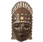 J -Line Wanddecoratie Afrikaanse Masker Mix - Bruin