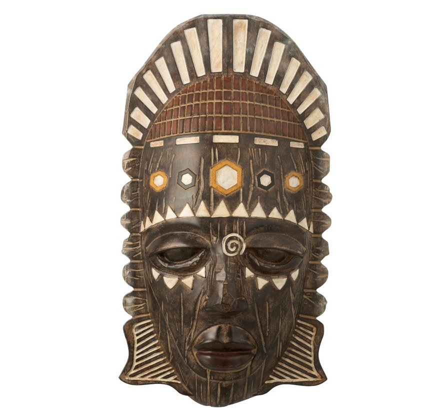 Wall decoration African Mask Mix - Brown