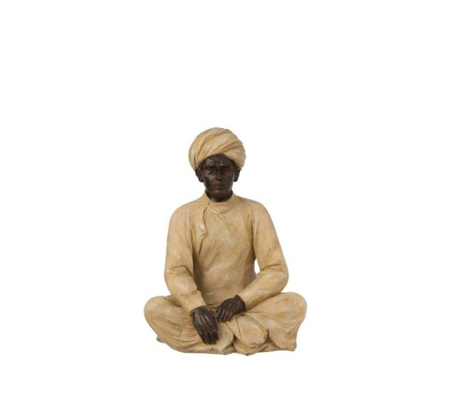 Decoration Figure Indian Man Beige Brown - Medium