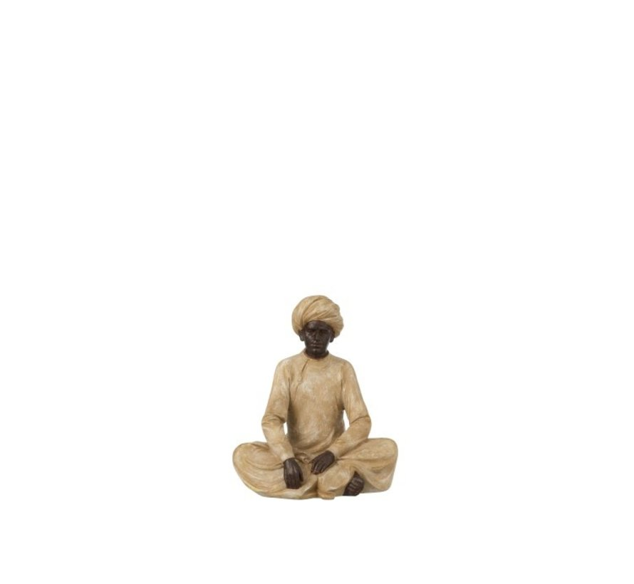 Decoration Figure Indian Man Beige Brown - Small