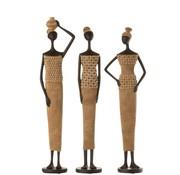 J -Line Decoratie Figuur Afrikaanse Vrouwen Schelpen - Large