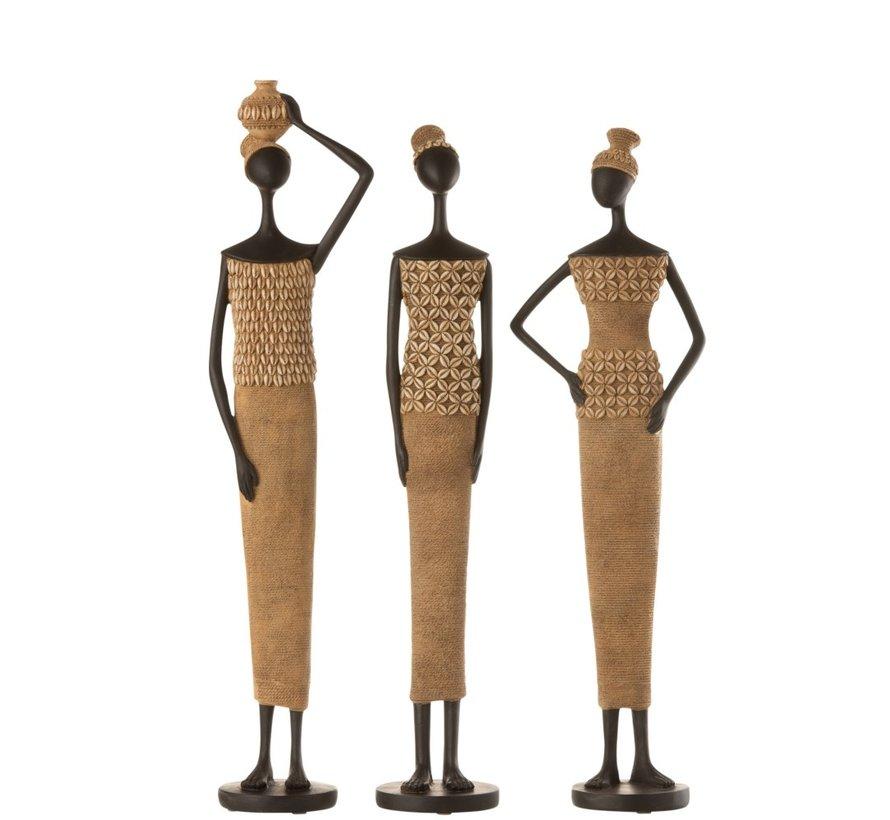 Decoratie Figuur Afrikaanse Vrouwen Schelpen - Large