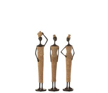 J -Line Decoratie Figuur Afrikaanse Vrouwen Schelpen - Small