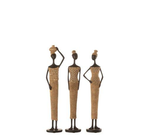 J-Line Decoration Figure African Women Shells - Small