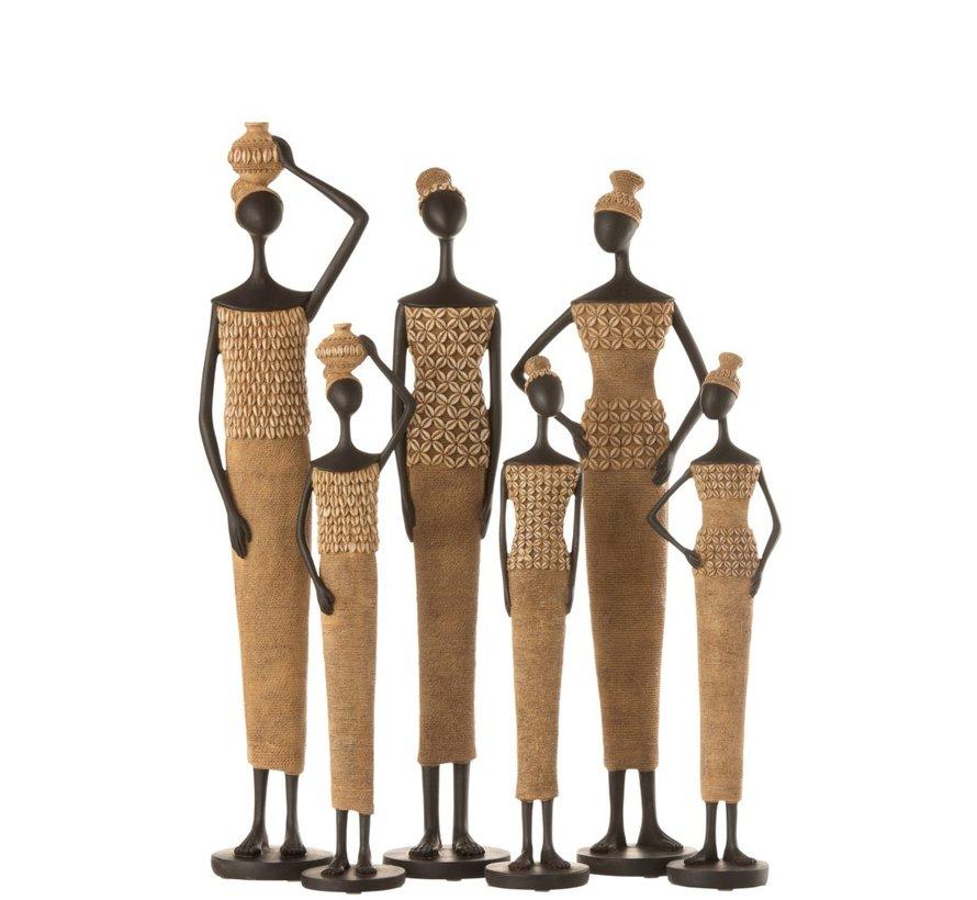Decoration Figure African Women Shells - Small