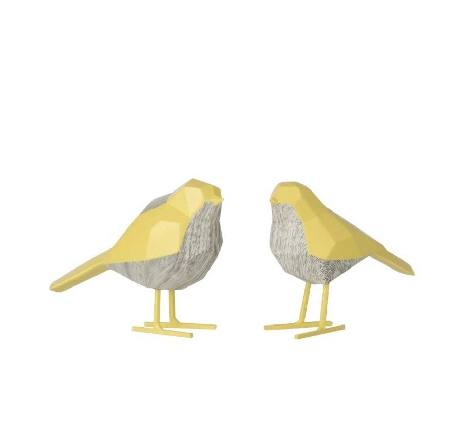 Decoratie Beeldjes Abstracte Vogels Geel - Wit