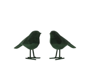 J -Line Decoratie Beeldjes Abstracte Vogels - Donkergroen