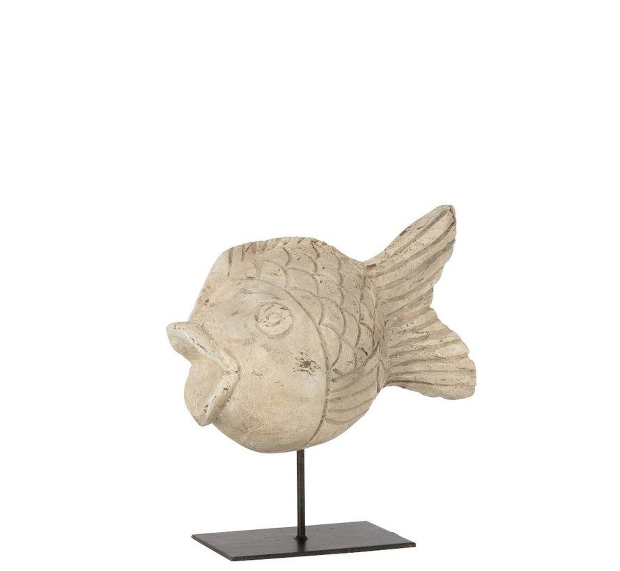 Decoration Figure Sphere Fish On Tripod - beige