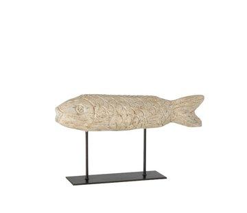 J -Line Decoration Figure Flatfish On Tripod - Beige