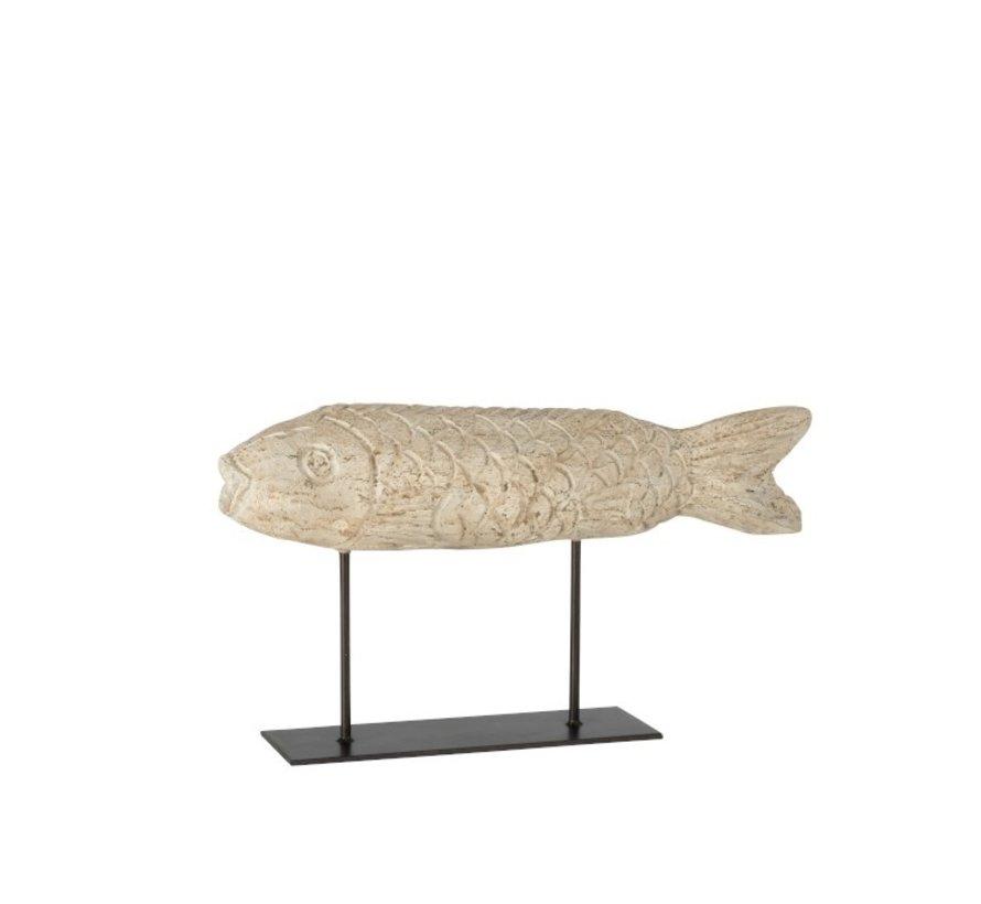 Decoration Figure Flatfish On Tripod - Beige