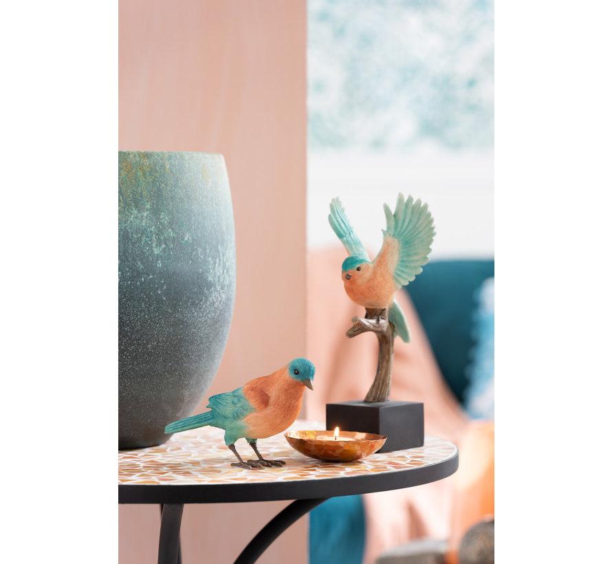 Decoratie Beeldjes Vogels Zalm Azuur - Blauw