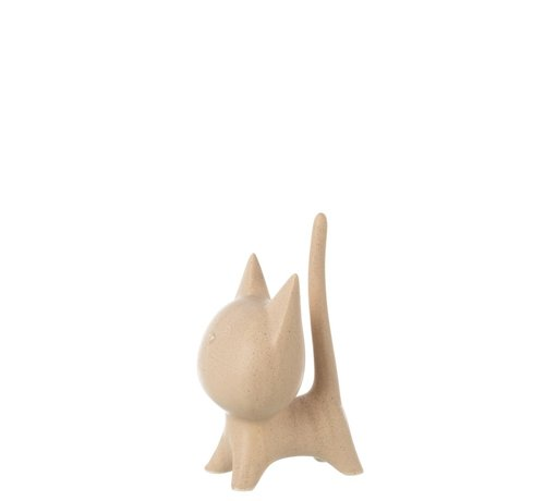 J -Line Decoratie Figuur Kat Abstract Beige - Extra Large