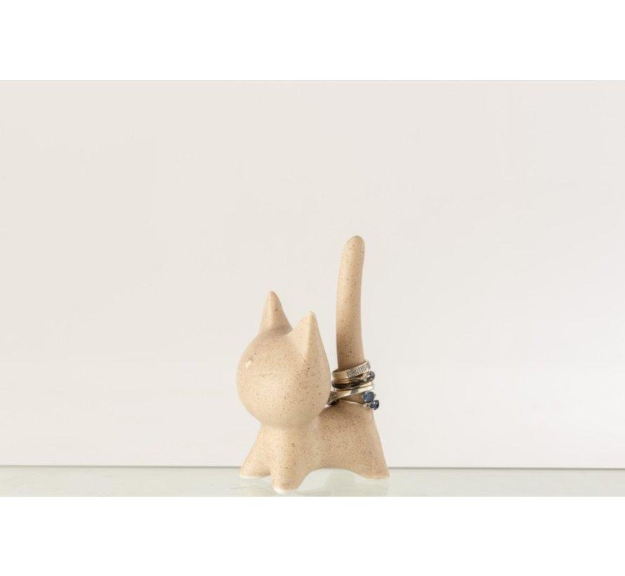 Decoration Figure Cat Abstract Beige - Medium