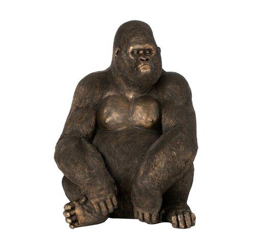 J-Line Decoration Sitting Gorilla Dark Brown Bronze - Large