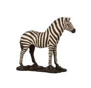 J-Line Decoratie Figuur Zebra Op Voet Wit Zwart - Large
