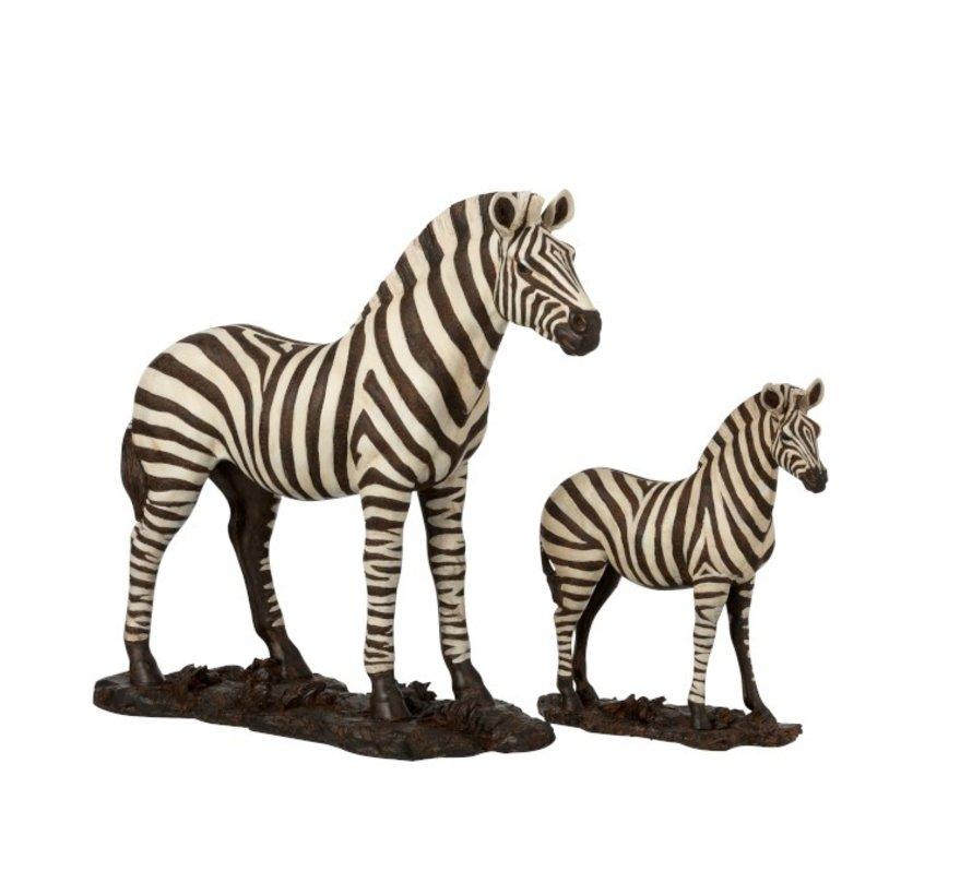 Decoration Figure Zebra On Foot White Black - Small