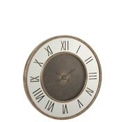 J-Line Wall Clock Round Roman Numerals Antique Gold - Large