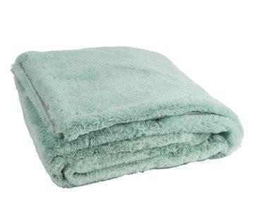 J -Line Plaid Cutie Extra Zacht  Textiel - Muntgroen