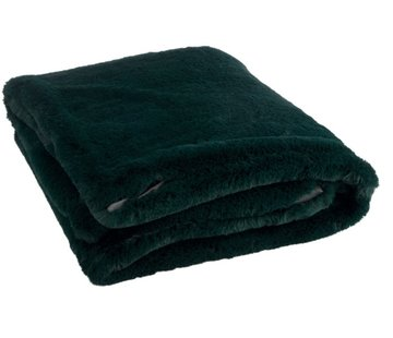 J-Line  Plaid Cutie Extra Zacht Textiel - Donkergroen
