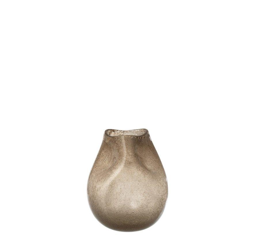 Vaas Glas Modern Natuurlijk Bruin - Small