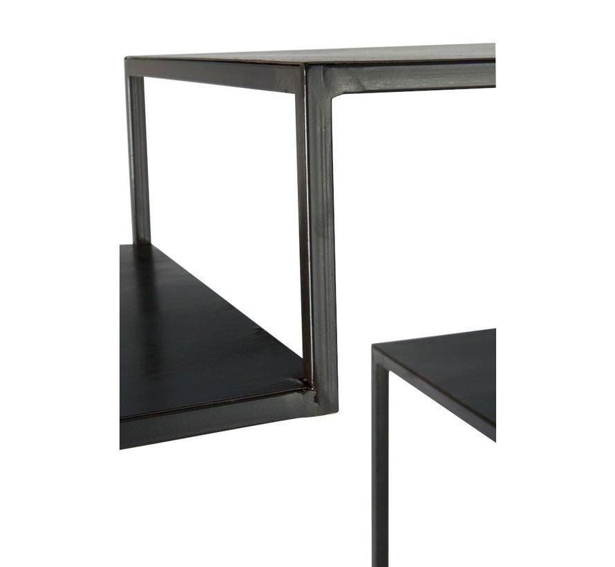 Open Cupboard Nine Shelves Forging - Black