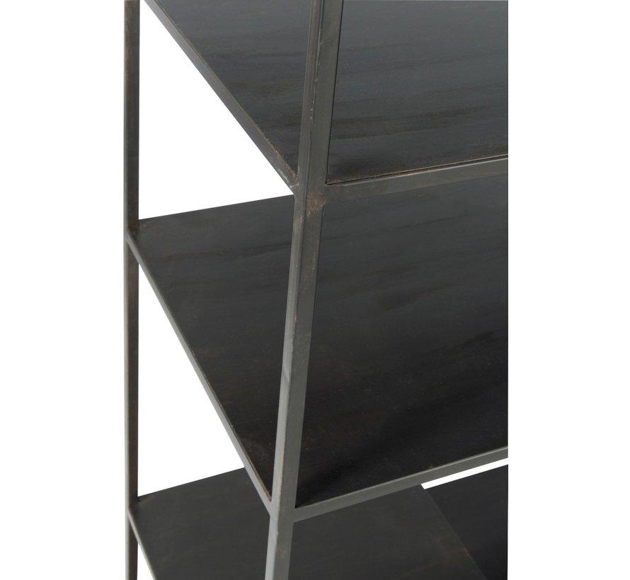 Open Kast Negen Legplanken  Smeedwerk - Zwart