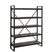 J-Line  Open Cupboard Rustic Five shelves Driftwood Black - Brown