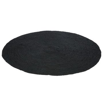 J-Line Carpet Around Natural Woven Jute - Black