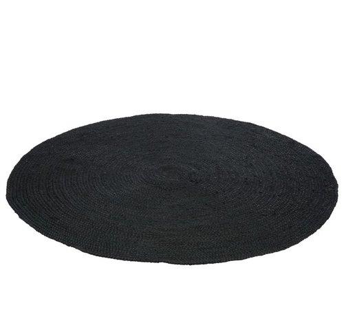 J -Line Carpet Around Natural Woven Jute - Black