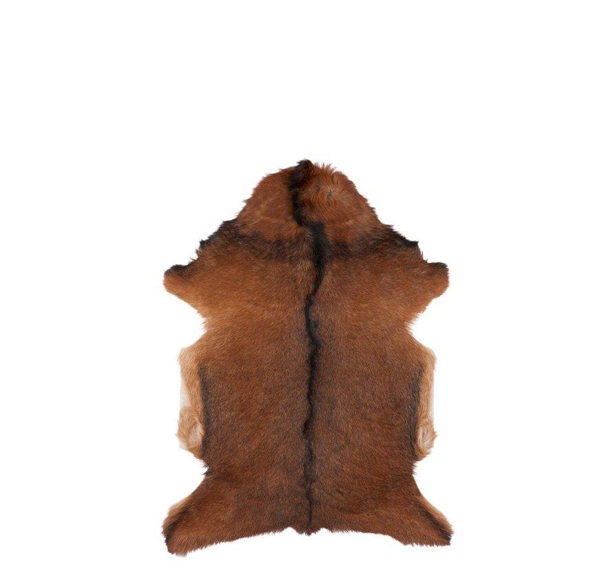 Dierenvacht Geitenvel Pels Mix - Bruin