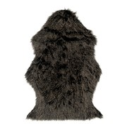 J -Line Carpet Long Hair Fake Fur Gray Black - White