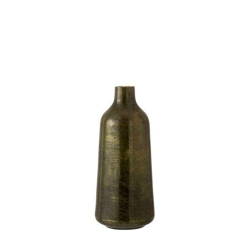 J -Line Bottles Vase Shiny Army Green - Large