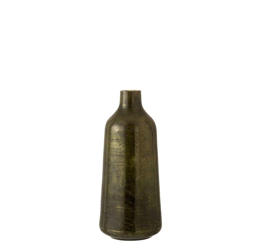 Bottles Vase Shiny Army Green - Large