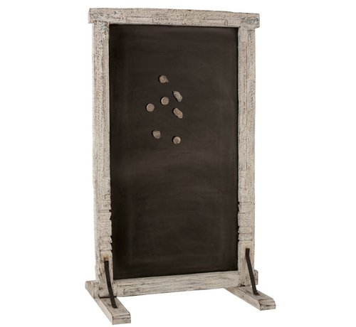 J -Line Decorative Magnetic Board Old Door Recycled - Wood
