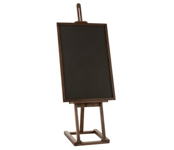 J -Line Chalkboard On Easel Mango Wood - Dark Brown