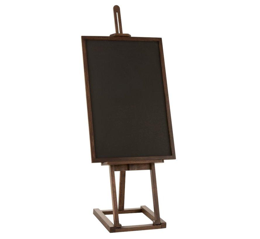 Chalkboard On Easel Mango Wood - Dark Brown