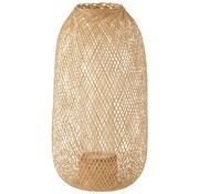 J -Line Candle Lantern Hazelate Bamboo Natural - Large