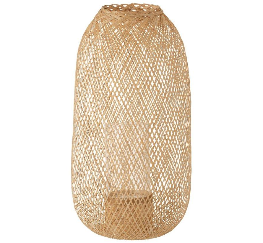 Candle Lantern Hazelate Bamboo Natural - Large
