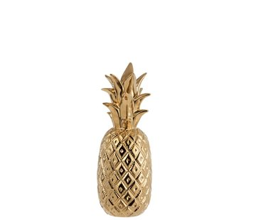 J -Line Candlestick Pineapple Poly Shiny Gold - Large