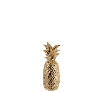 J -Line Candlestick Pineapple Poly Shiny Gold - Medium