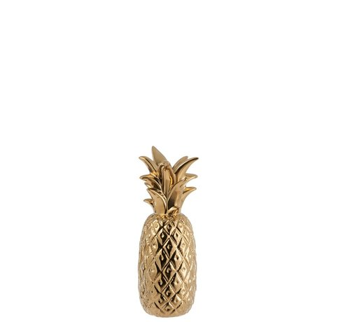 J -Line Candlestick Pineapple Poly Shiny Gold - Medium