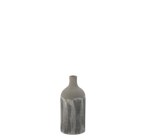 J -Line Bottles Vase Rustic Tough Uneven Gray - Extra Small
