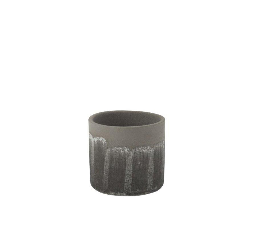 Flowerpot Rustic Tough Uneven Gray - Large